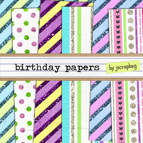 p birthday papers