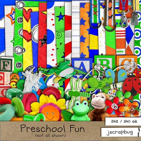jscrapbug - Preschool Fun preview